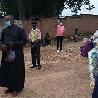 Inhumation de l'abbé Maxence Matumona