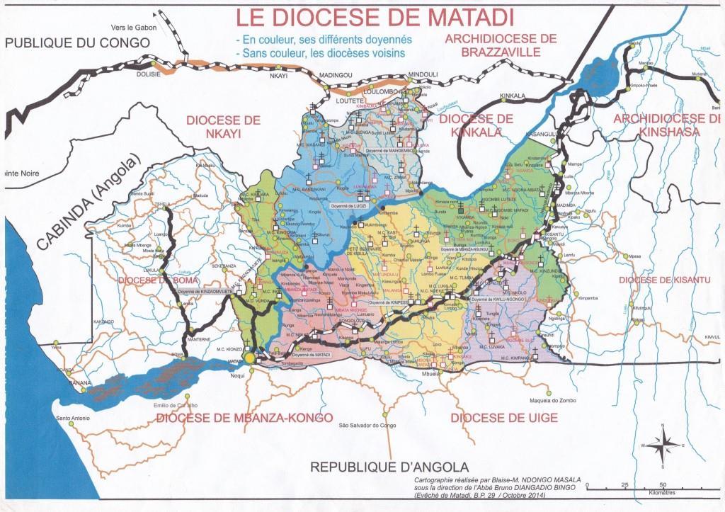Carte du Diocese de Matadi