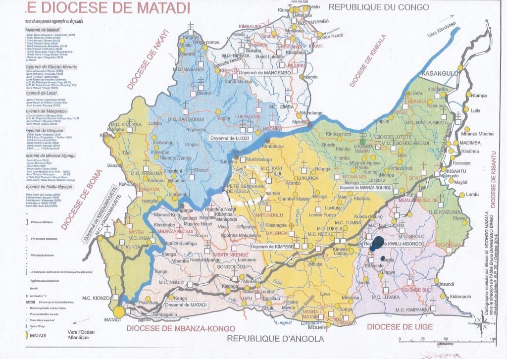 Carte du Diocèse de Matadi