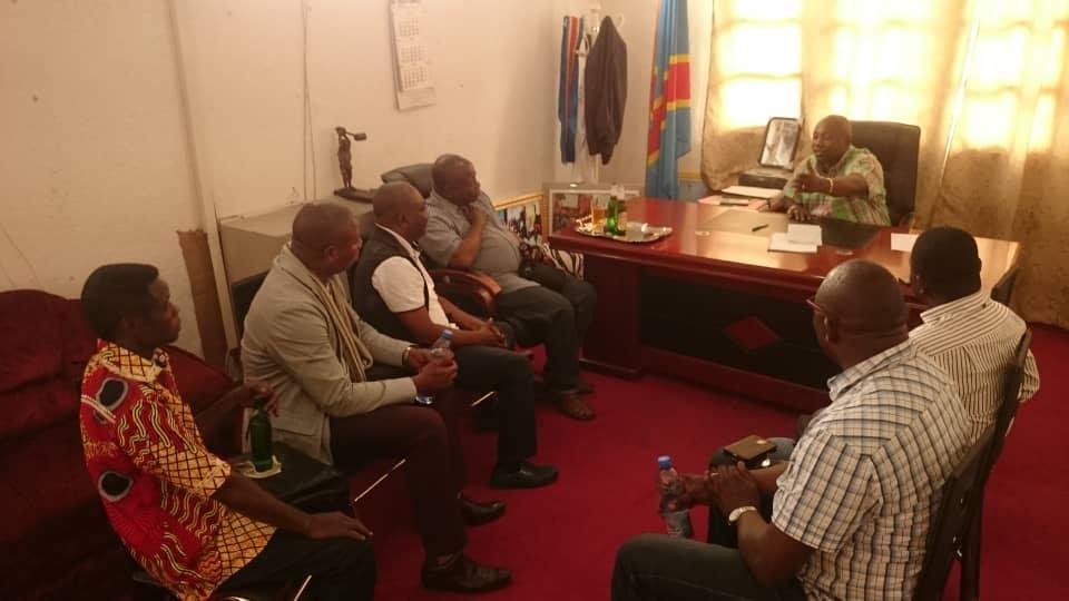 Reunion avec le maire de matadi